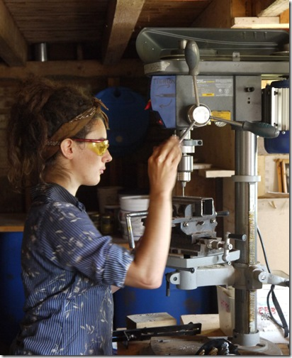 Meagan and Drill Press